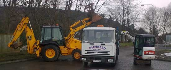 Plant hire from Dunkeld Builders